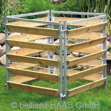 Komposter Holz Metall L 100xb 100xh 100 Cm 99150 Amazon De Garten