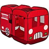 Best Choice Products Kids Pop-Up Fire Truck Play Tent Indoor/Outdoor W/ Carrying Case