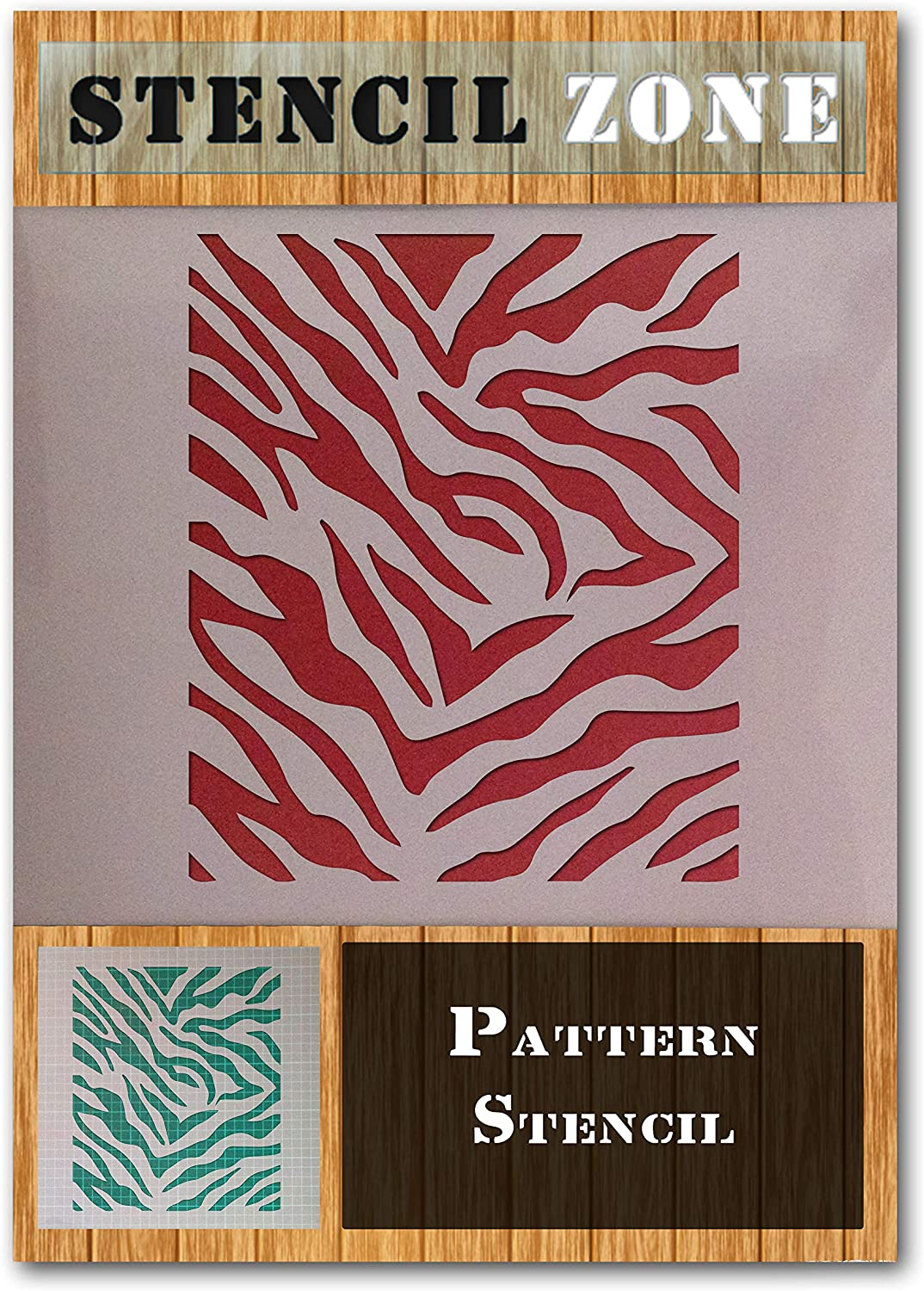 Zebra Pattern A4 Mylar Reusable Stencil Airbrush Painting Art