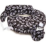 Zenoff Products Nursing Pillow Slipcover, Flowing Fans, Black, White