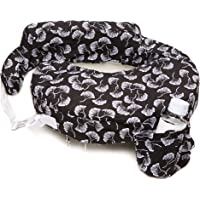 My Brest Friend 100% Cotton Nursing Pillow Original Slipcover – Machine Washable Breastfeeding Cushion Cover - Pillow not Included, Flowing Fans (Black & White)
