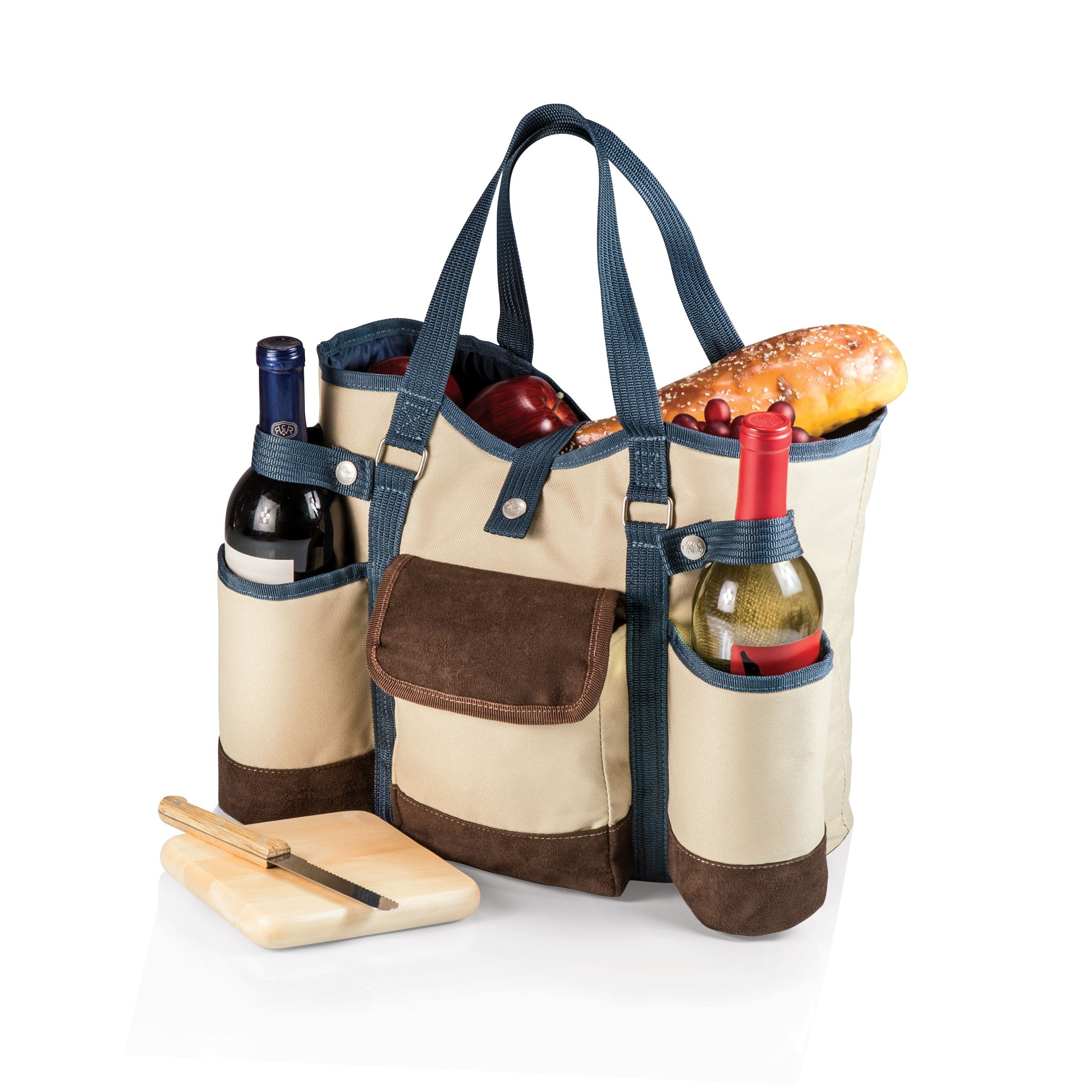 Picnic Time Wine Country Tote - Tan, Set of 2