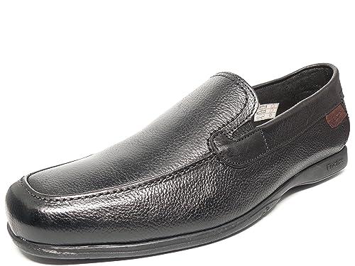 Zapato casual hombre FLUCHOS elasticos laterales en piel color negro - 9098 - 65 (45, negro): Amazon.es: Zapatos y complementos