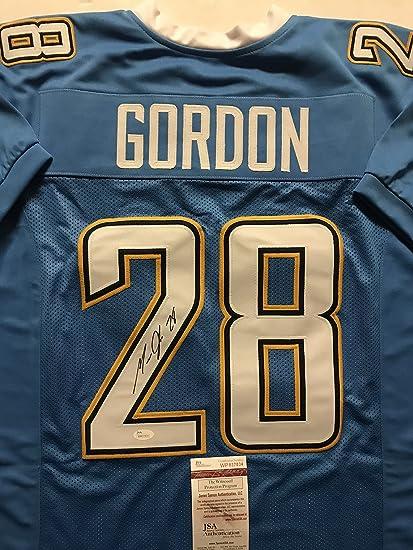 7eae9d76 Autographed/Signed Melvin Gordon Los Angeles LA Chargers Powder Blue ...