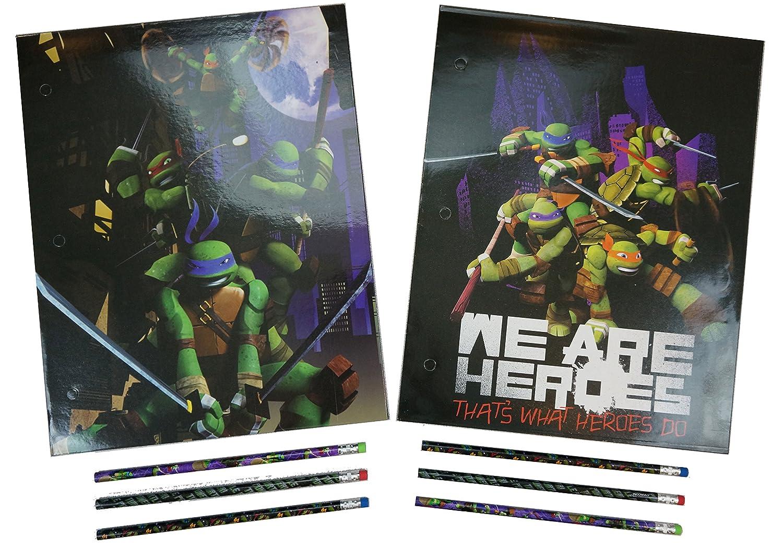 Amazon.com : Ninja Turtles Folder and Pencil Back to School ...