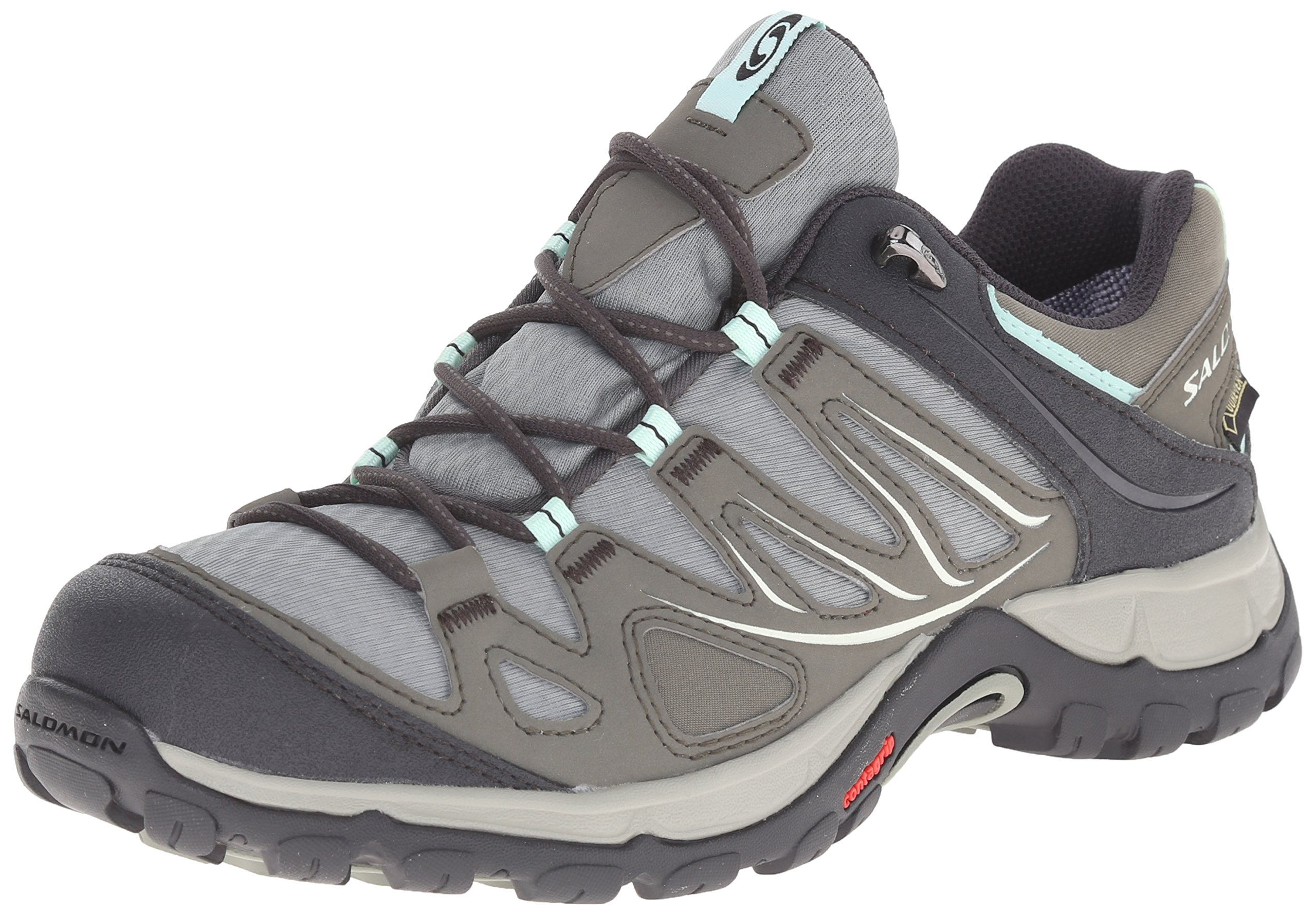 Salomon Women's Ellipse GTX W Hiking Shoe, Verdi Grey, 9.5 B US