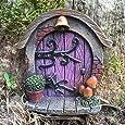 Presents.com Décoration pour jardin en forme de porte miniature style Hobbit, Pixie, Elfe, porte de féeHauteur 7 cm