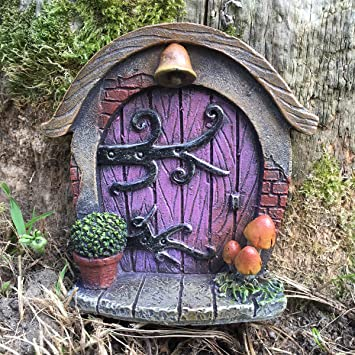 Miniature Hobbit Pixie Elf Fairy Door - Tree Garden Home Decor - Fun & Miniature Hobbit Pixie Elf Fairy Door - Tree Garden Home Decor ...