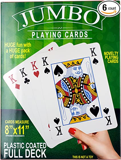 Deluxe Plastic Coated Playing Cards Deck Novelty Poker Card Games All Ages