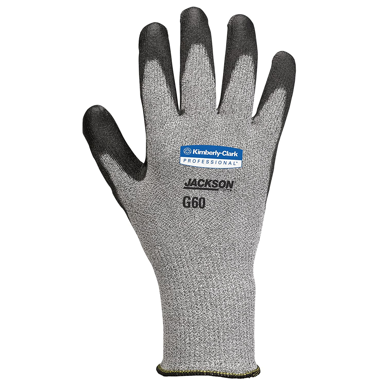 43259 2 Bags // Case Kimberly-Clark Professional XL 1 Pair // Vending Pack 6 PR // Bag Jackson Safety G60 EN Level 5 Polyurethane Coated Cut Resistant Gloves Black
