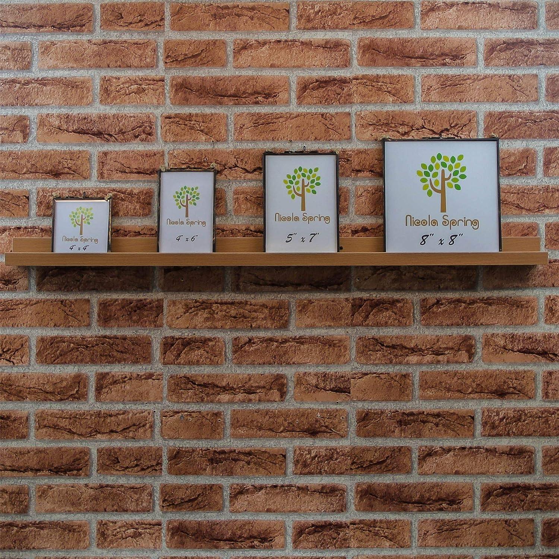 Harbour Housewares Bilder-Regalleisten aus Holz 91,5 cm Braun 3 St/ück