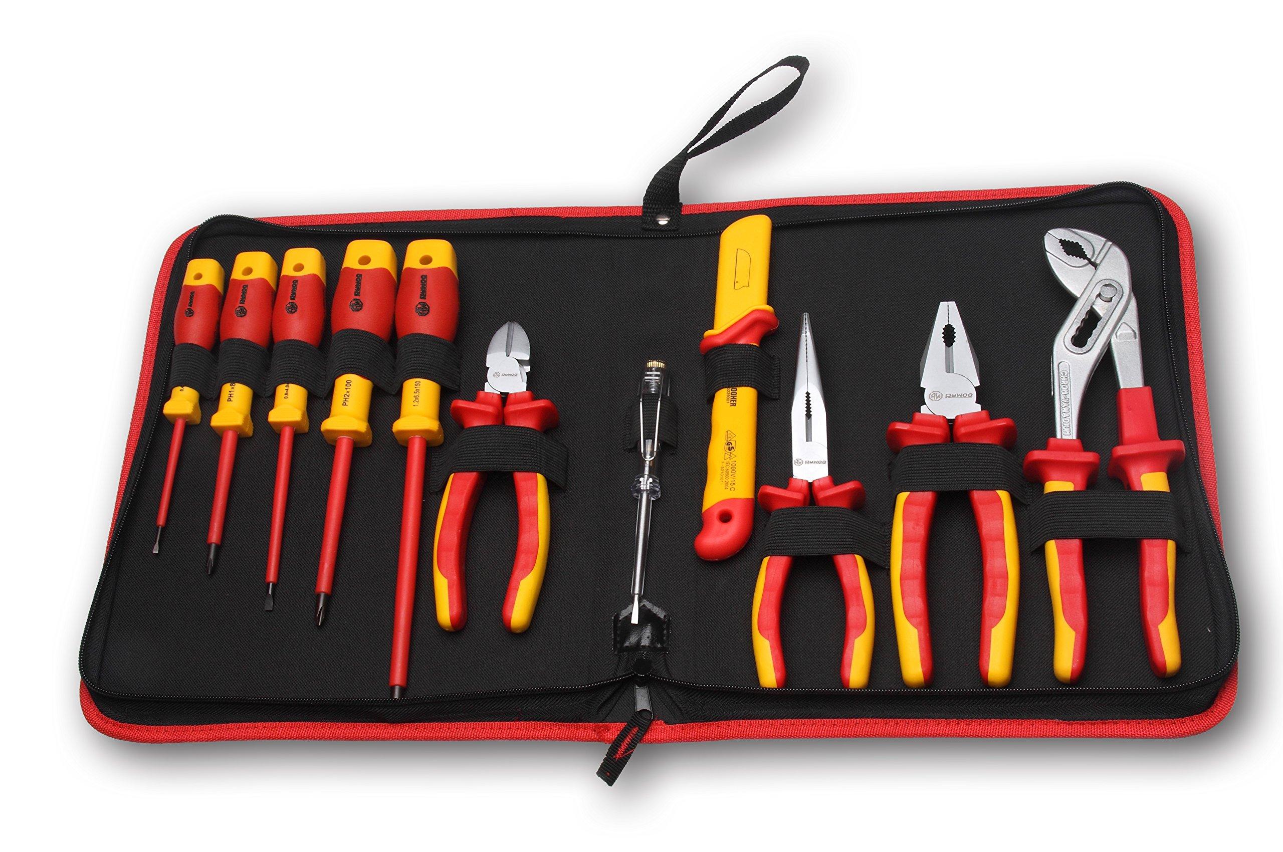RUWOO Z03011 1000V VDE 11-Piece Insulated Tools Set