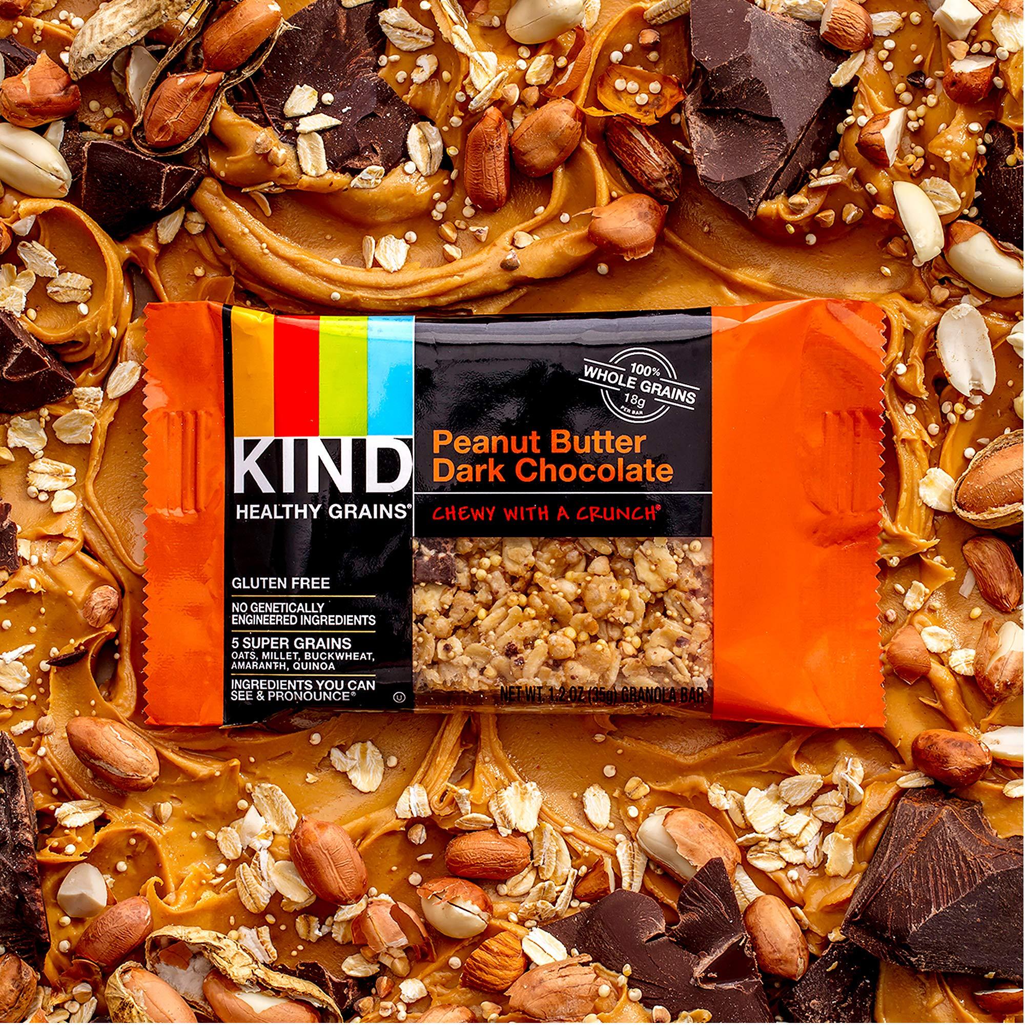 KIND Healthy Grains Granola Bars, Peanut Butter Dark Chocolate, Gluten Free, 1.2 oz, 30 Count by KIND (Image #4)