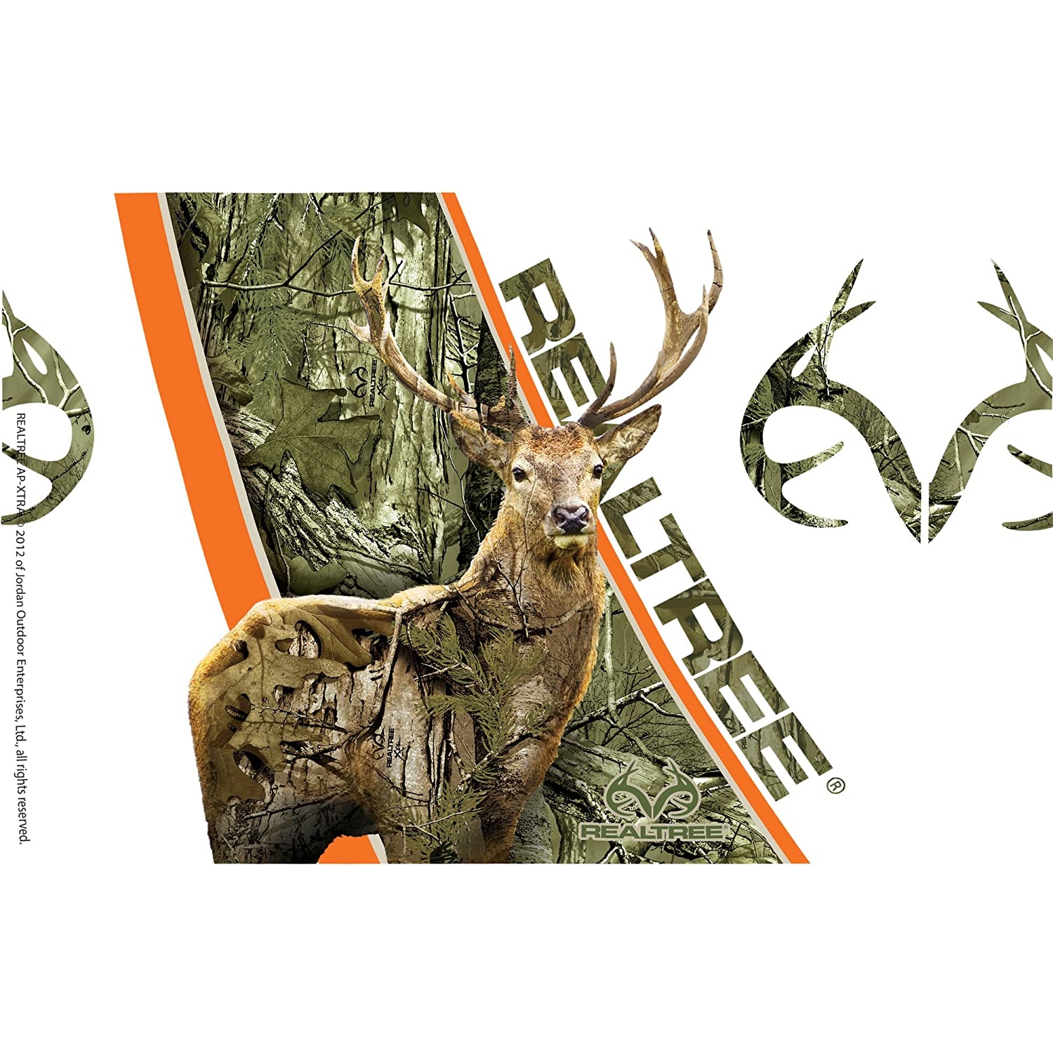 Clear Camo Deer Tumbler with Wrap and Brown Lid 16oz Tervis 1233036 Realtree