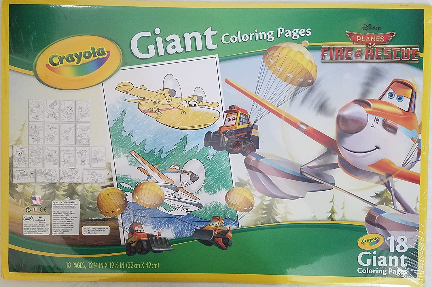 Amazon.com: Crayola Disney Planes Giant Coloring Pages: Toys & Games