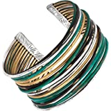 Silpada 'Fresco' Sterling Silver and Patina Brass Cuff Bracelet, 7.5""