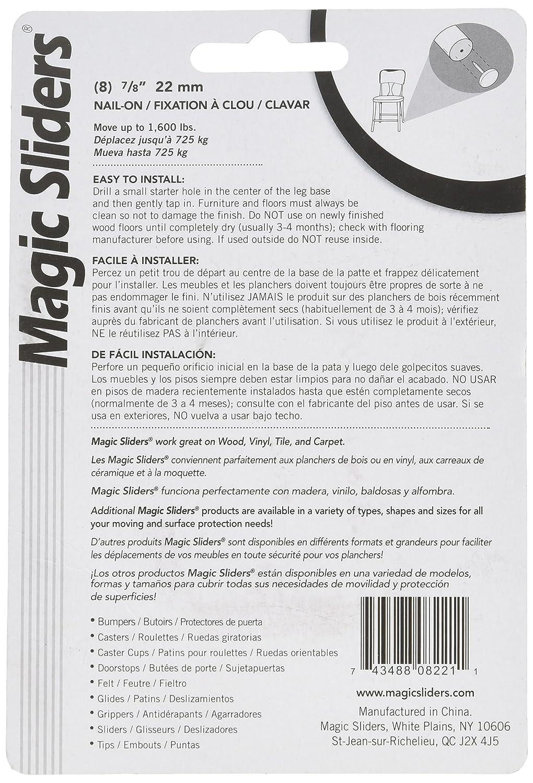 MAGIC SLIDERS L P 8221 Series 8PK 7//8 RND Slide Disc