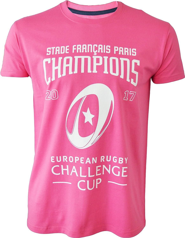 STADE Français Paris – Champion 2017 – European Challenge Cup – Camiseta Oficial – para Hombre, Talla DE Adulto: Amazon.es: Deportes y aire libre