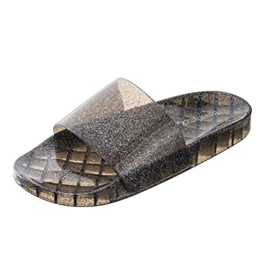 0113eb801804 Beverly Rock Women s Summer Flip Flop Open Toe Jelly Glitter Slide Sandal  Slippers (9