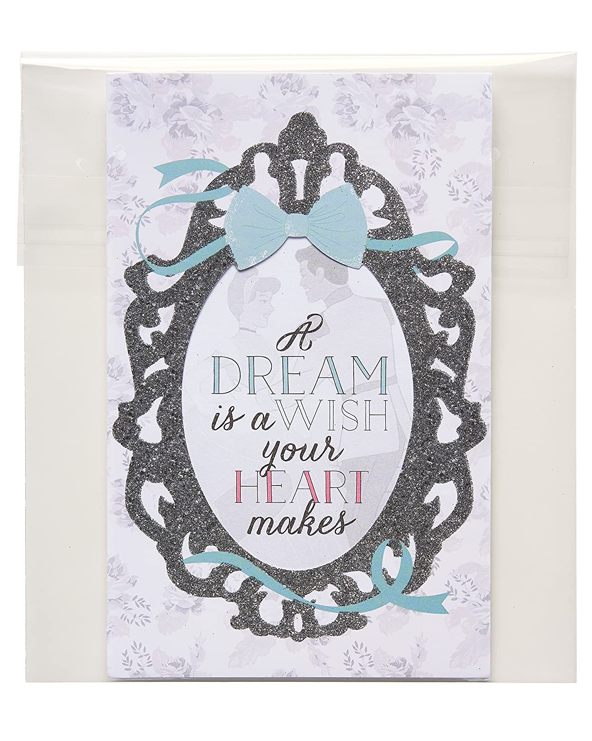 Amazon.com: American Greetings Disney Wedding Card with Glitter ...