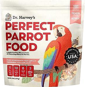 Dr. Harvey's Perfect Parrot Food Natural Food for Large Parrots (5 Pounds)