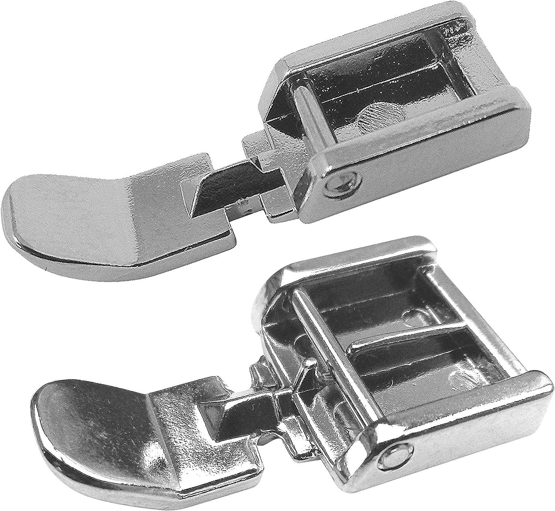ZickZackNaehmaschine 2x Cremallera pie prensatelas (Juego) y Estrecho Normal para Singer Tradition Line Máquinas de Coser
