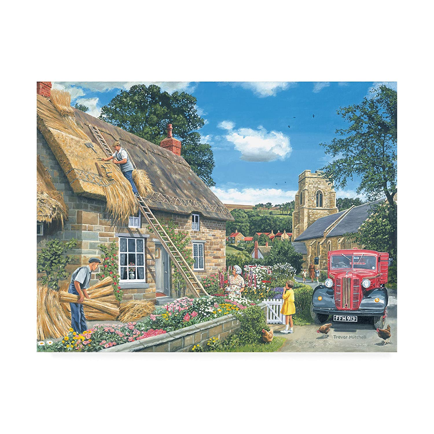 14x19 Trademark Fine Art ALI45999C1419GG A New Thatch by Trevor Mitchell, 14x19