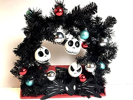 the nightmare before christmas decorated wreath