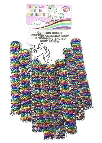 Amazon.com: Unicorn Slap pulseras suministros de fiesta ...