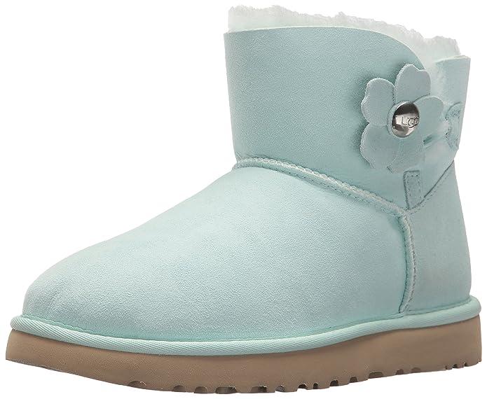 UGG MINI BAILEY BUTTON POPPY - Classic ankle boots - poppy aqua z8AxfmC9
