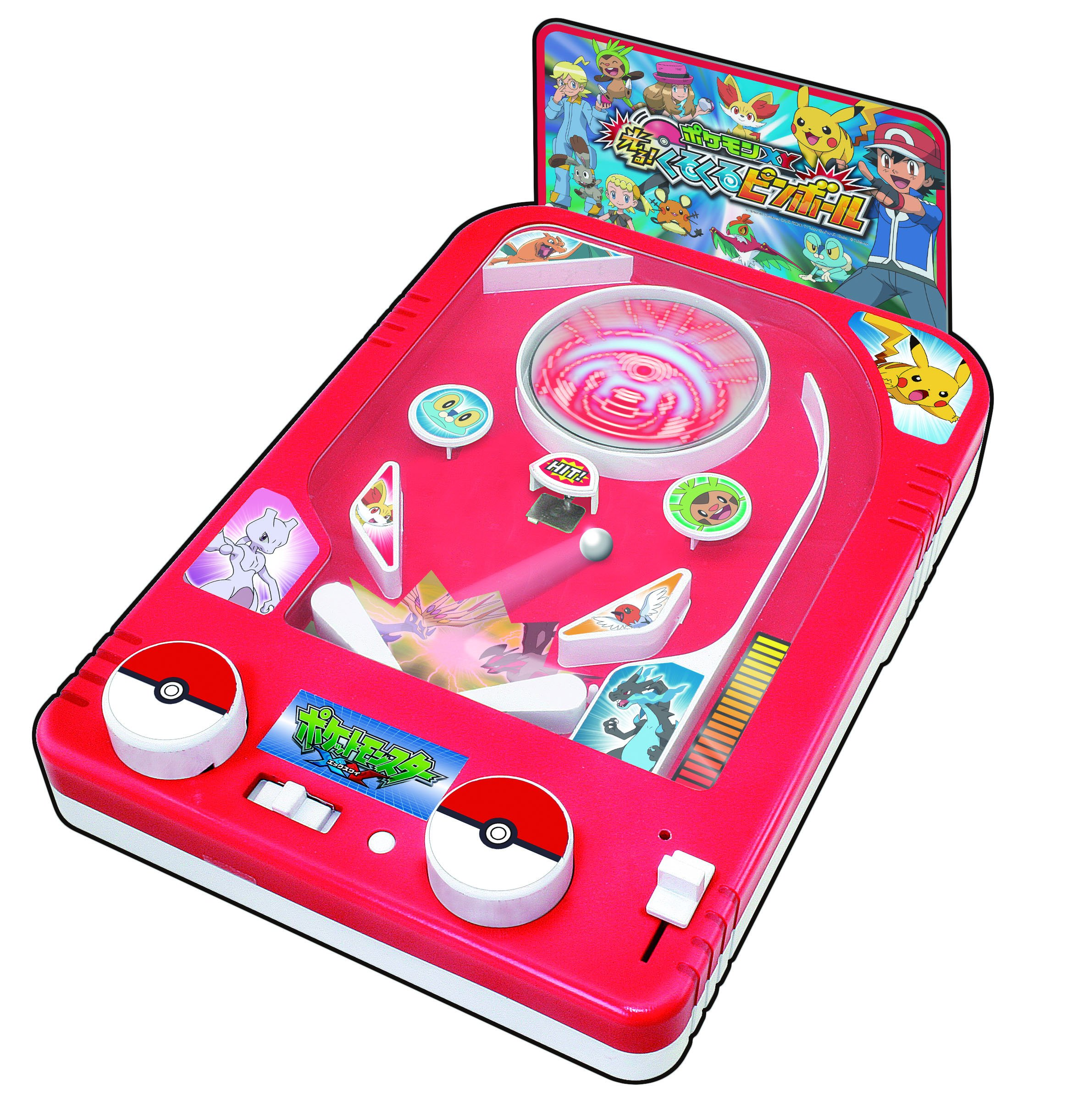Pokemon Game Factory Pocket Monster XY Shining Spinning Pin Ball