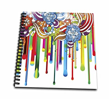 Amazon Com 3d Rose Pretty Zentangle Flowers Dripping Color Paint