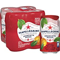 San Pellegrino Aranciata Rossa Can, 330ml (Pack of 4)