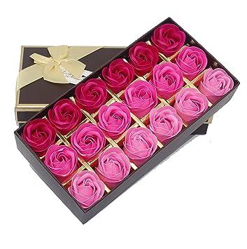 Amazon little world floral scented bath soap rose flower guest little world floral scented bath soap rose flower guest soap shaped petals pink mightylinksfo