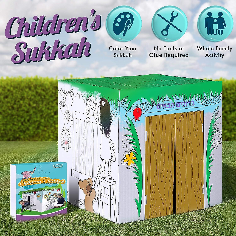 Ages 3-12 Years Sukkot Hadar Children's Small DIY Sukkah 19.5-Foot ...
