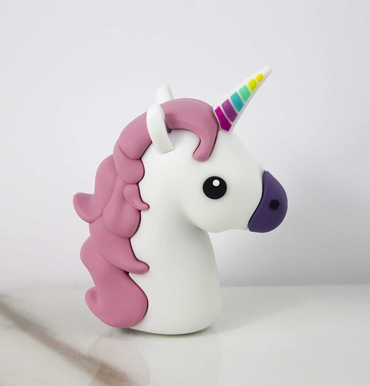 Amazon.com: Unicornio Power Bank varios colores, Rosado