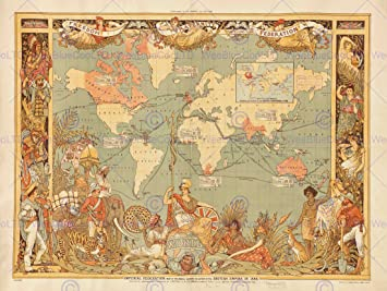 Amazon maps british empire 1886 imperial illustrated people maps british empire 1886 imperial illustrated people world poster print bb8103b gumiabroncs Choice Image