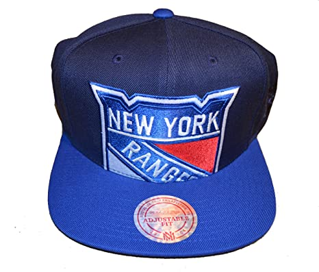 "e8dc932fdca1c5 Mitchell & Ness New York Rangers ""Cropped XL Logo"" Snapback Cap -  NHL"