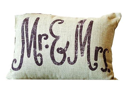 Creative Co-op Lino Señor y señora de Almohada: Amazon.es: Hogar