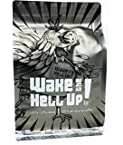Wake The Hell Up Ground Coffee, Ultra Caffeinated Medium-Dark Roast, 12 Ounce, Reclosable Bag