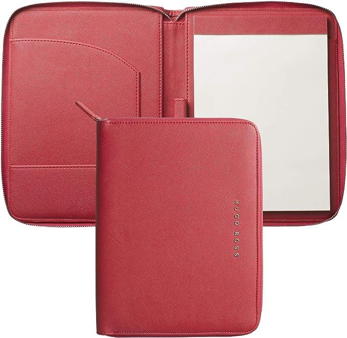 Hugo Boss - Carpeta a5 saffiano rojo: Amazon.es: Oficina y papelería