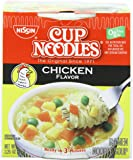 Nissin Cup O'Noodles Ramen Noodle Soup, Chicken Flavor, 2.25-Ounce (Pack of 12)