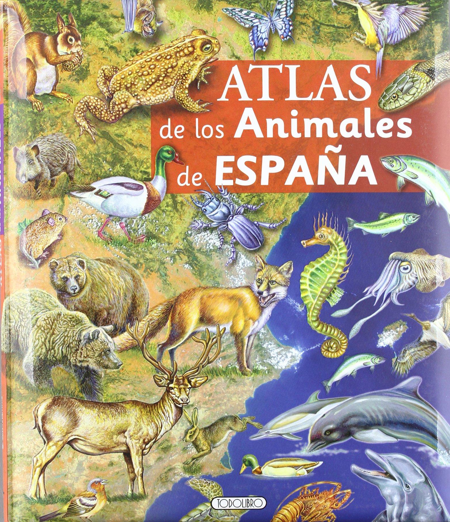 Atlas de animales de España (Cosas de niños): Amazon.es: Todolibro ...