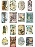 "Decoupage Paper Pack (10sheets A4 / 8""x12"") Christmas Winter Landscapes FLONZ Vintage Ephemera"