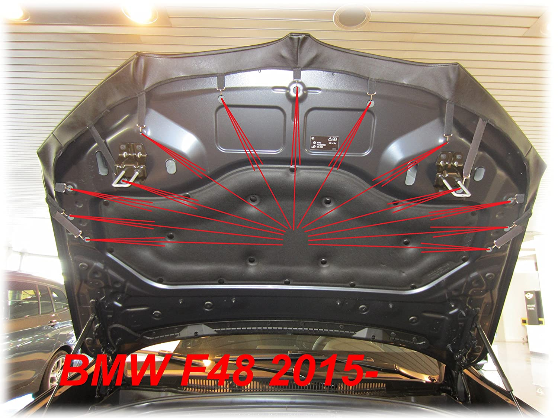 seit 2015 Haubenbra Steinschlagschutz Tuning Bonnet Bra AB-00614 BRA f/ür X1 F48 Bj