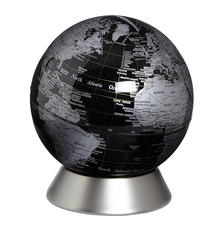 emform Mini-Globus, Orion Schwarz, Metall & Kunststoff, 130 x 150 mm ...