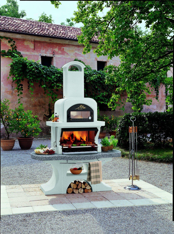 palazzetti parrilla Chimenea Capri 2 con horno Juego ...