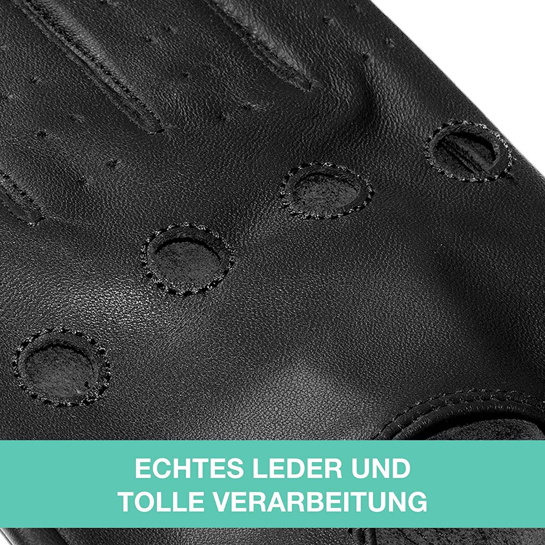 JAMES HAWK cadeau haut de gamme avec emballage Gants de conducteur gants de voiture gants en cuir classiques /à /écran tactile pour hommes gants de conducteur /él/égants en noir et marron