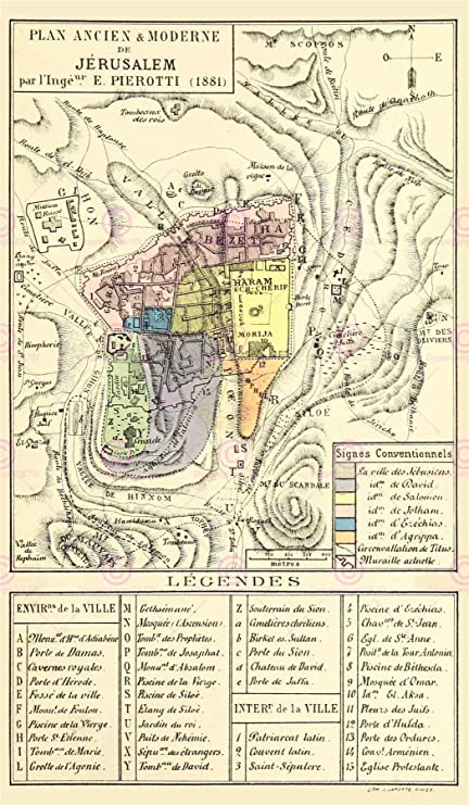 MAP ANTIQUE KIEPERT 1903 ANCIENT ROME CITY PLAN REPLICA POSTER PRINT PAM0966