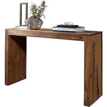 WOHNLING Konsolentisch Massivholz Sheesham Schreibtisch 115 X 40cm Landhaus Stil  Arbeitstisch Modern Ess Küchen